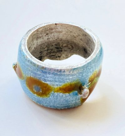 Silver Enamelled Ring
